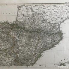 Arte: GRAN MAPA DE PAÍS VASCO,NAVARRA, ARAGÓN Y CATALUÑA (ESPAÑA), 1856. STIELER/PERTHES. Lote 232957240