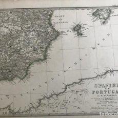 Arte: GRAN MAPA DEL SURESTE DE ESPAÑA Y NORTE DE ÁFRICA, 1862. STIELER/PERHES/BERGHAUS. Lote 233121695