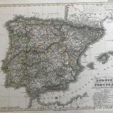 Arte: GRAN MAPA A COLOR DE ESPAÑA Y PORTUGAL, 1834. STIELER/PERTHES/STÜLNAGEL/POPPEY. Lote 233123270