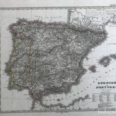 Arte: GRAN MAPA A COLOR DE ESPAÑA Y PORTUGAL, 1867. STIELER/PERTHES/STÜLNAGEL/POPPEY. Lote 233124920