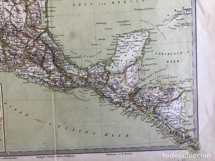 Arte: Gran mapa a color de México y América Central, 1850. Bromme/Krais/Hoffman - Foto 5 - 233143675