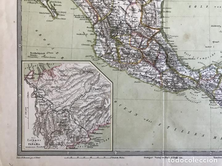 Arte: Gran mapa a color de México y América Central, 1850. Bromme/Krais/Hoffman - Foto 7 - 233143675