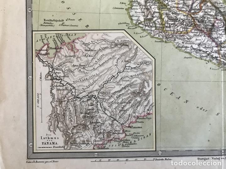 Arte: Gran mapa a color de México y América Central, 1850. Bromme/Krais/Hoffman - Foto 8 - 233143675
