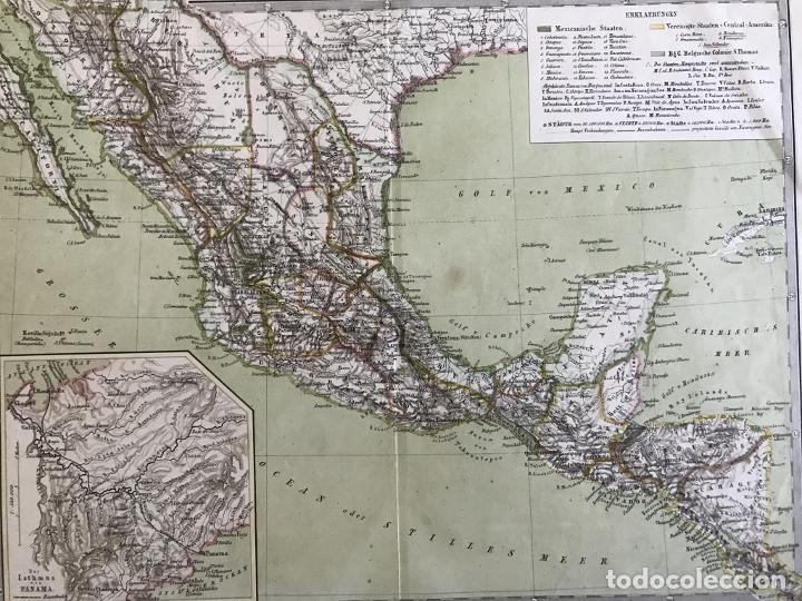 Arte: Gran mapa a color de México y América Central, 1850. Bromme/Krais/Hoffman - Foto 9 - 233143675