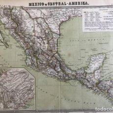 Arte: GRAN MAPA A COLOR DE MÉXICO Y AMÉRICA CENTRAL, 1850. BROMME/KRAIS/HOFFMAN. Lote 233143675