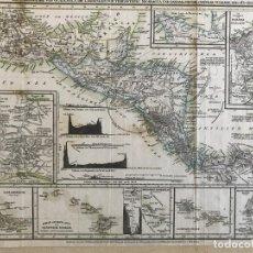 Arte: MAPA DE VOLCANES DE AMÉRICA CENTRAL, HACIA 1850. KLEINKNEETH Y SCHWEINFUNTEN. Lote 233153635