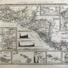 Arte: MAPA DE VOLCANES DE AMÉRICA CENTRAL, HACIA 1850. KLEINKNEETH Y SCHWEINFUNTEN. Lote 233154495