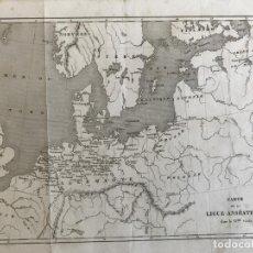 Arte: MAPA HISTÓRICO DE LA LIGA HANSEÁTICA (EUROPA) EN EL SIGLO XV, CIRCA 1860. ANÓNIMO. Lote 233157650