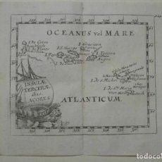 Arte: MAPA DE LAS ISLAS AZORES (OCÉANO ATLÁNTICO, PORTUGAL), 1690. PIERRE DU VAL. Lote 233496960