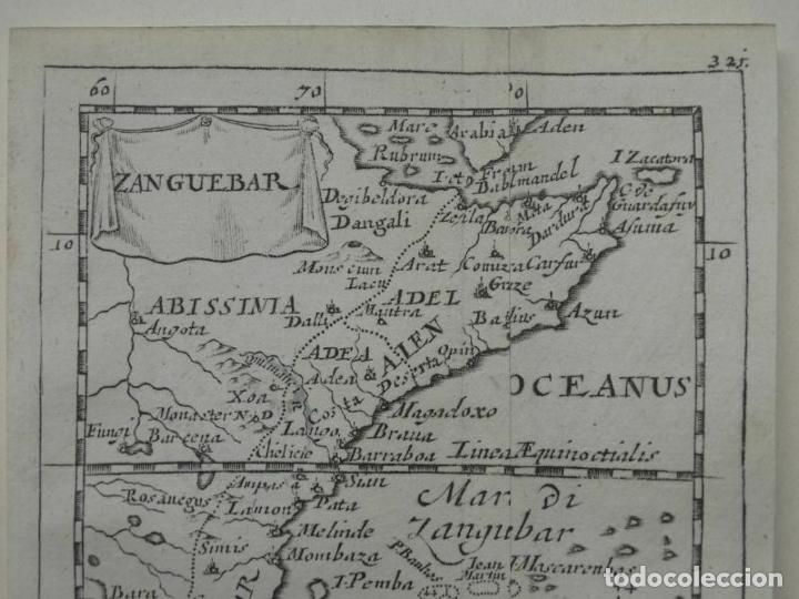 Arte: Mapa de parte oriental de África, 1690. Pierre du Val - Foto 2 - 233501605