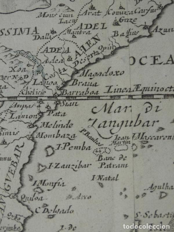 Arte: Mapa de parte oriental de África, 1690. Pierre du Val - Foto 3 - 233501605