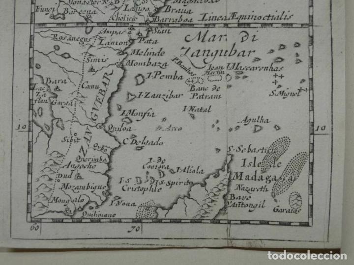 Arte: Mapa de parte oriental de África, 1690. Pierre du Val - Foto 5 - 233501605