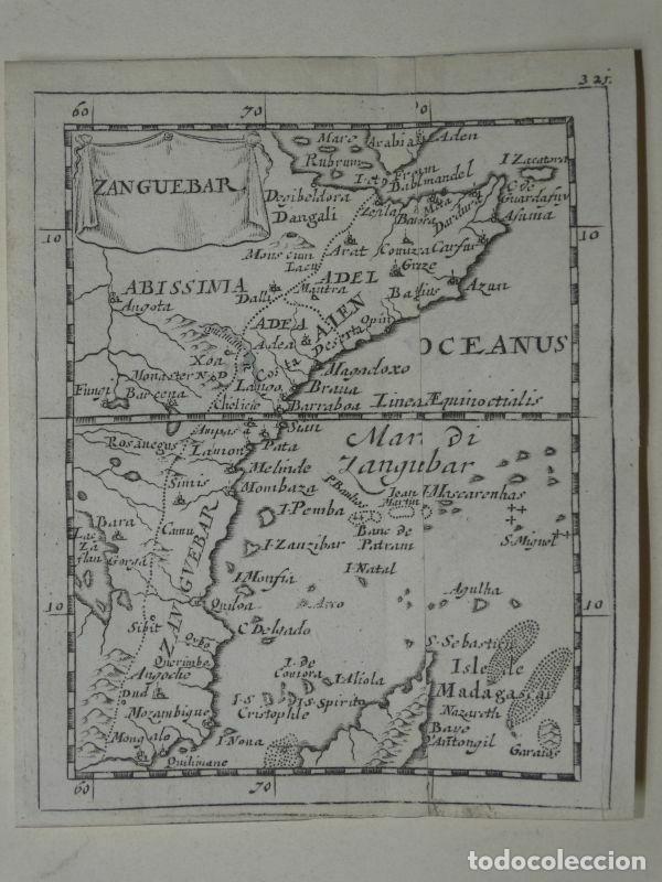 MAPA DE PARTE ORIENTAL DE ÁFRICA, 1690. PIERRE DU VAL (Arte - Cartografía Antigua (hasta S. XIX))