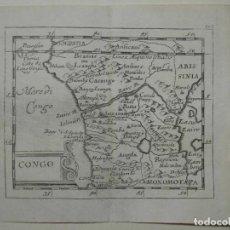 Arte: MAPA DEL CONGO Y ANGOLA ( ÁFRICA ), 1690. PIERRE DU VAL. Lote 233569340