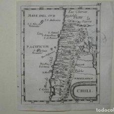 Arte: MAPA DE CHILE (AMÉRICA DEL SUR), 1690. PIERRE DU VAL. Lote 233574680