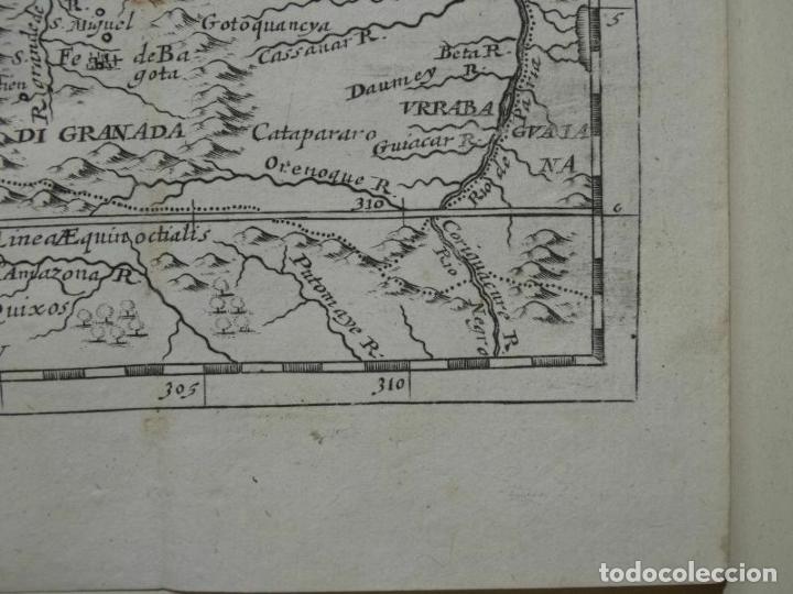 Arte: Mapa del norte de Colombia y Venezuela (América del sur), 1690. Pierre Du Val - Foto 2 - 233576085