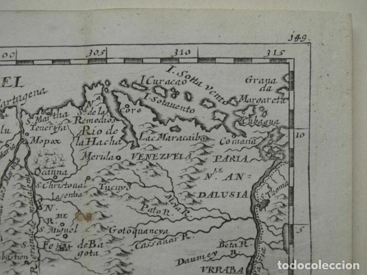 Arte: Mapa del norte de Colombia y Venezuela (América del sur), 1690. Pierre Du Val - Foto 3 - 233576085
