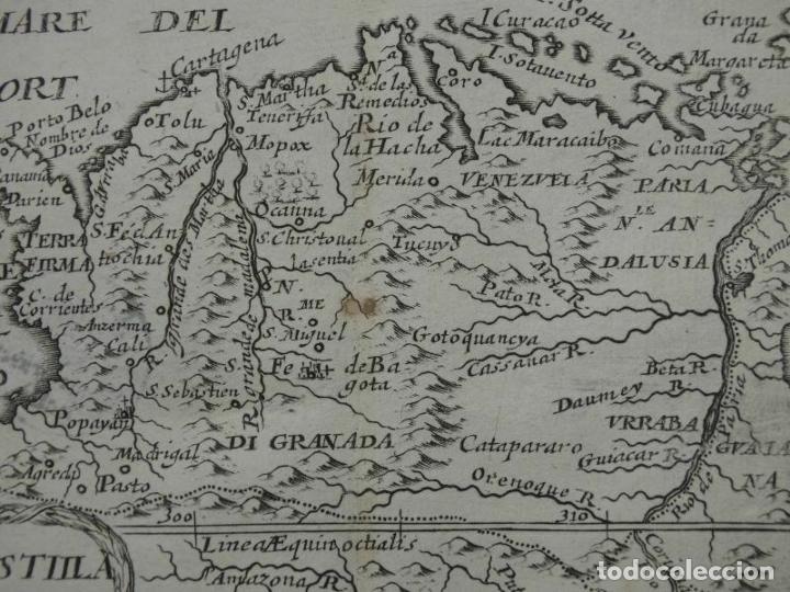 Arte: Mapa del norte de Colombia y Venezuela (América del sur), 1690. Pierre Du Val - Foto 5 - 233576085