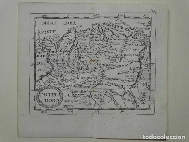 MAPA DEL NORTE DE COLOMBIA Y VENEZUELA (AMÉRICA DEL SUR), 1690. PIERRE DU VAL (Arte - Cartografía Antigua (hasta S. XIX))