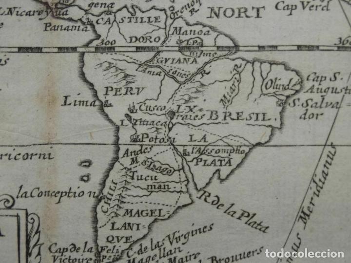 Arte: Mapa de América del norte, centro y sur, 1690. Pierre Du Val - Foto 6 - 233579310