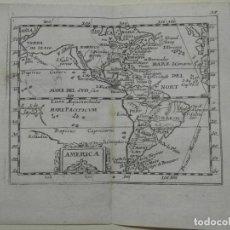 Arte: MAPA DE AMÉRICA DEL NORTE, CENTRO Y SUR, 1690. PIERRE DU VAL. Lote 233579310