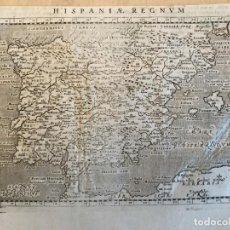 Arte: MAPA DE ESPAÑA Y PORTUGAL, 1713. F. VALEGIO/LASOR A VAREA. Lote 233677205