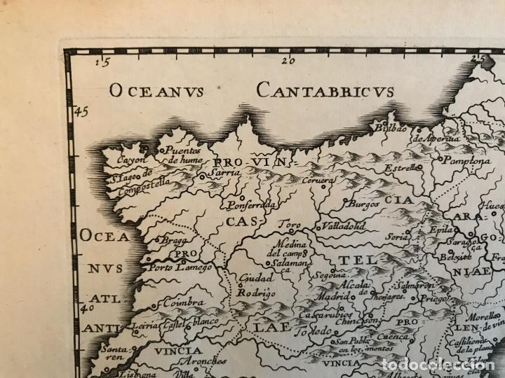 Arte: Hispania Augustiniana. Mapa de Portugal y España, 1659. Augustín Lubin/Petrus Baudouin - Foto 3 - 233713835