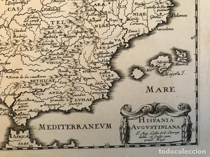 Arte: Hispania Augustiniana. Mapa de Portugal y España, 1659. Augustín Lubin/Petrus Baudouin - Foto 5 - 233713835