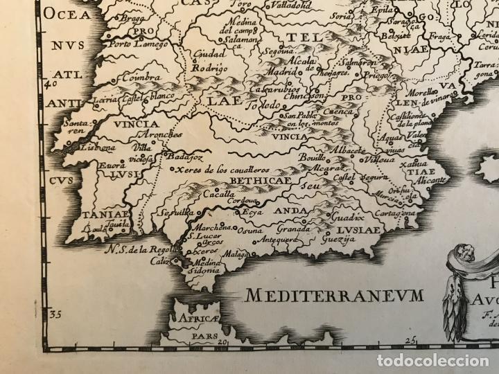 Arte: Hispania Augustiniana. Mapa de Portugal y España, 1659. Augustín Lubin/Petrus Baudouin - Foto 6 - 233713835