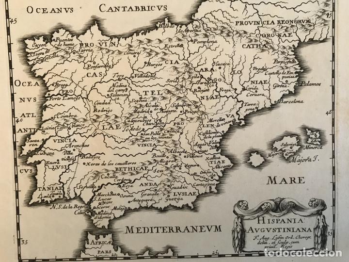 Arte: Hispania Augustiniana. Mapa de Portugal y España, 1659. Augustín Lubin/Petrus Baudouin - Foto 7 - 233713835