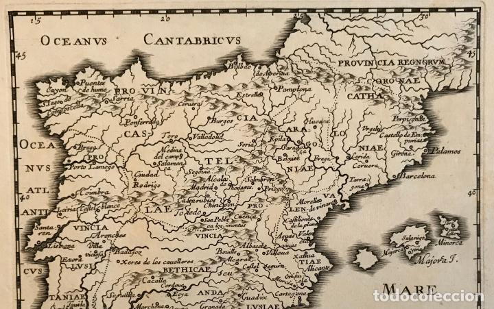 Arte: Hispania Augustiniana. Mapa de Portugal y España, 1659. Augustín Lubin/Petrus Baudouin - Foto 10 - 233713835