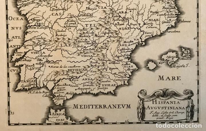 Arte: Hispania Augustiniana. Mapa de Portugal y España, 1659. Augustín Lubin/Petrus Baudouin - Foto 11 - 233713835
