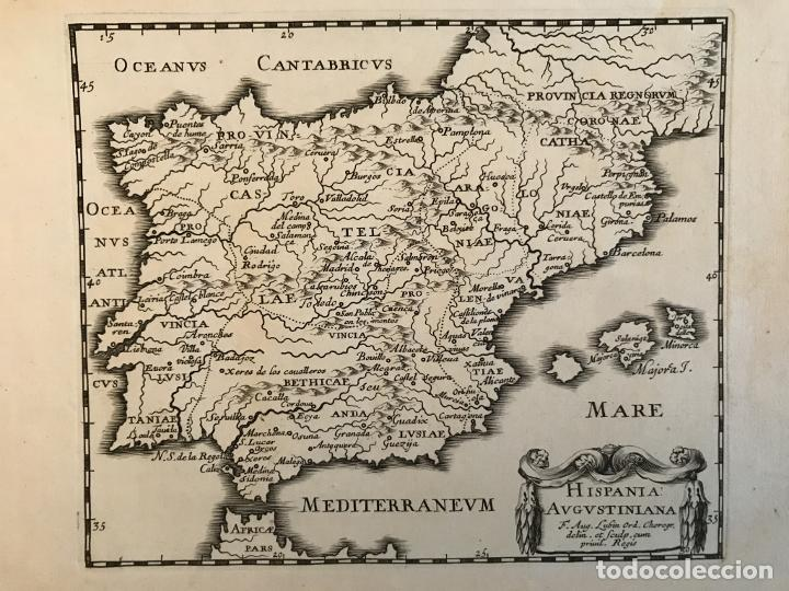 HISPANIA AUGUSTINIANA. MAPA DE PORTUGAL Y ESPAÑA, 1659. AUGUSTÍN LUBIN/PETRUS BAUDOUIN (Arte - Cartografía Antigua (hasta S. XIX))