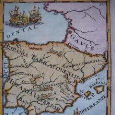 Arte: MAPA ESPAÑA, ORIGINAL, MALLET, SIGLO XVII. Lote 233759545