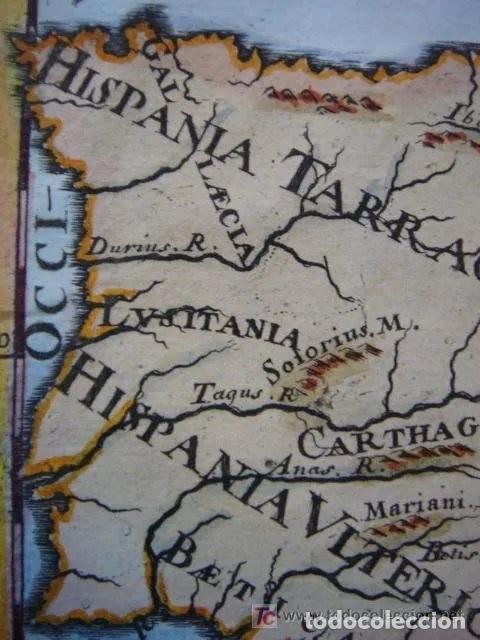 Arte: Mapa España, ORIGINAL, MALLET, siglo XVII - Foto 3 - 233759545