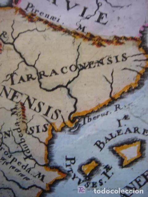 Arte: Mapa España, ORIGINAL, MALLET, siglo XVII - Foto 4 - 233759545