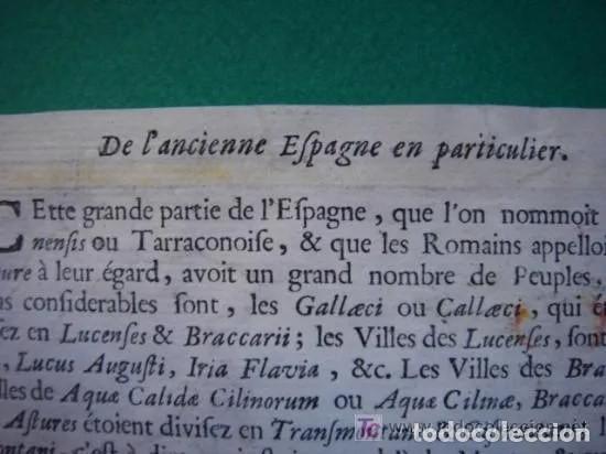 Arte: Mapa España, ORIGINAL, MALLET, siglo XVII - Foto 17 - 233759545