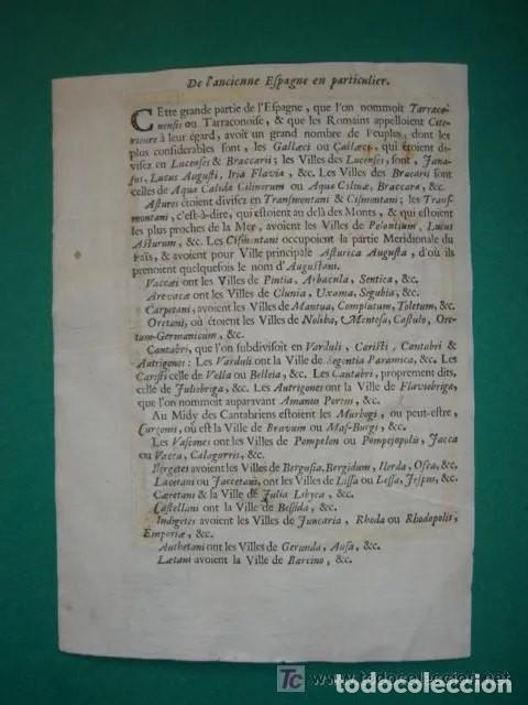 Arte: Mapa España, ORIGINAL, MALLET, siglo XVII - Foto 18 - 233759545