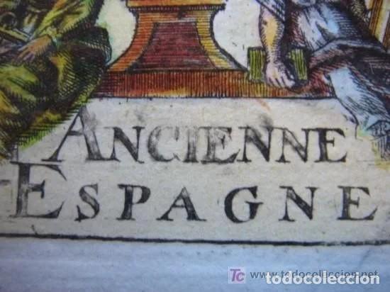 Arte: Mapa España, ORIGINAL, MALLET, siglo XVII - Foto 19 - 233759545