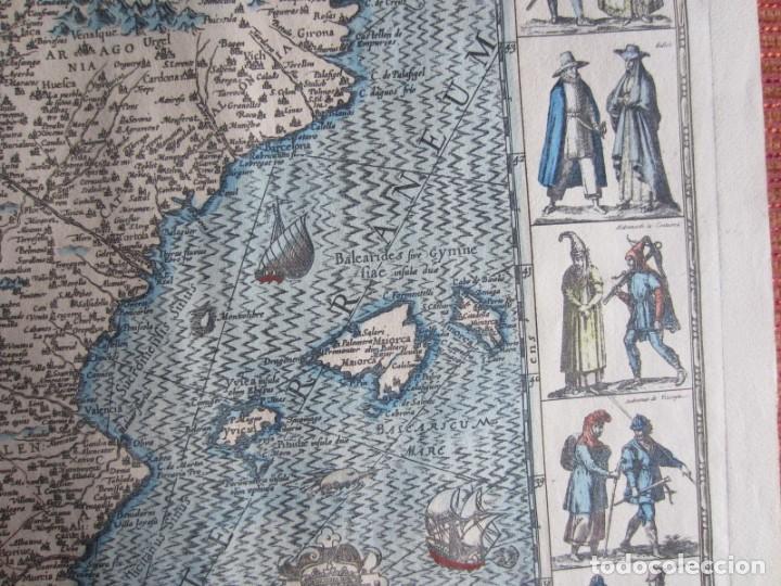 Arte: 1579-MAPA ORLADO ESPAÑA.VISTAS BARCELONA BILBAO SEVILLA MALAGA MADRID TOLEDO CÁDIZ.TRAJES REGIONES - Foto 6 - 233907835
