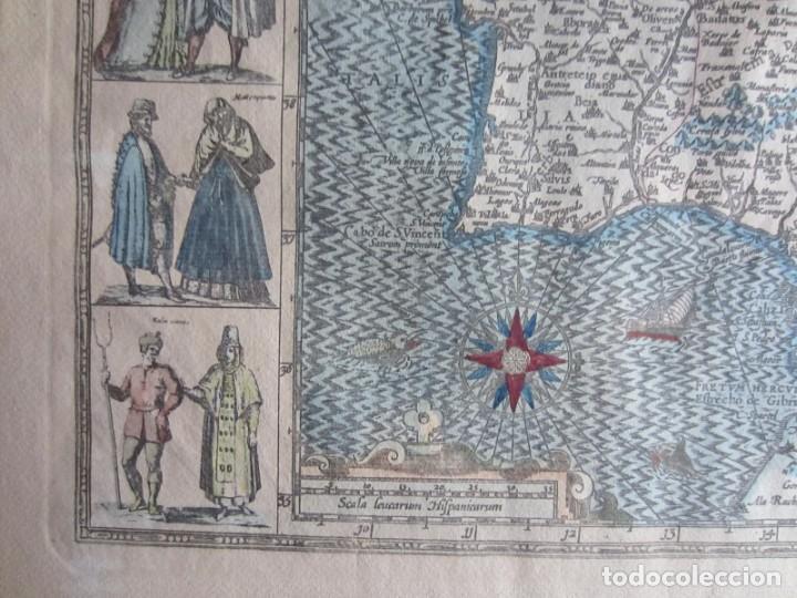 Arte: 1579-MAPA ORLADO ESPAÑA.VISTAS BARCELONA BILBAO SEVILLA MALAGA MADRID TOLEDO CÁDIZ.TRAJES REGIONES - Foto 8 - 233907835