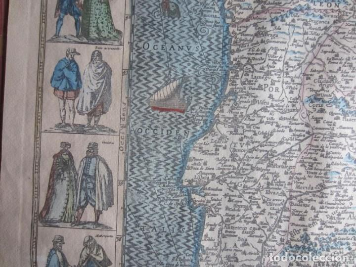 Arte: 1579-MAPA ORLADO ESPAÑA.VISTAS BARCELONA BILBAO SEVILLA MALAGA MADRID TOLEDO CÁDIZ.TRAJES REGIONES - Foto 9 - 233907835