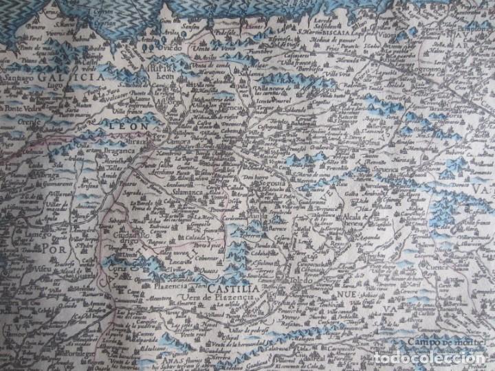 Arte: 1579-MAPA ORLADO ESPAÑA.VISTAS BARCELONA BILBAO SEVILLA MALAGA MADRID TOLEDO CÁDIZ.TRAJES REGIONES - Foto 11 - 233907835