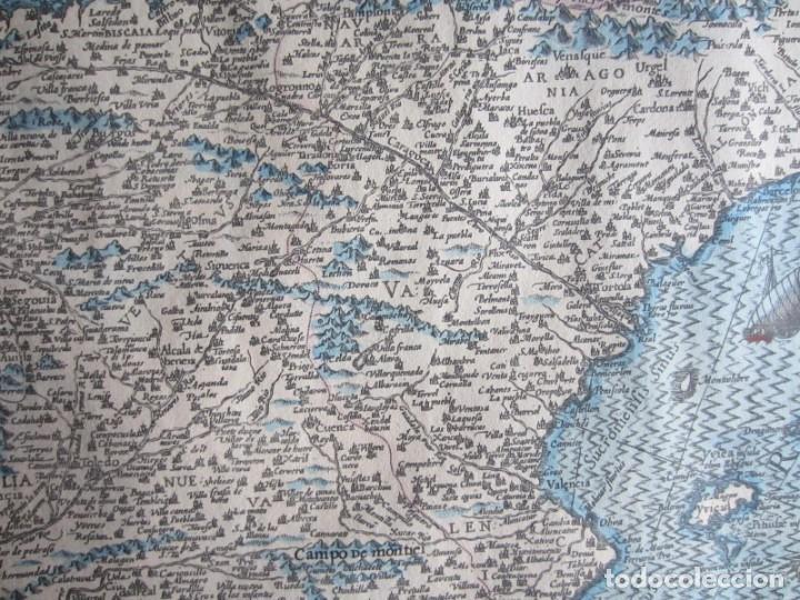 Arte: 1579-MAPA ORLADO ESPAÑA.VISTAS BARCELONA BILBAO SEVILLA MALAGA MADRID TOLEDO CÁDIZ.TRAJES REGIONES - Foto 12 - 233907835