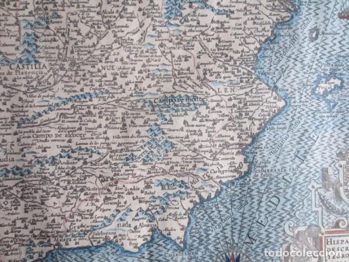 Arte: 1579-MAPA ORLADO ESPAÑA.VISTAS BARCELONA BILBAO SEVILLA MALAGA MADRID TOLEDO CÁDIZ.TRAJES REGIONES - Foto 13 - 233907835