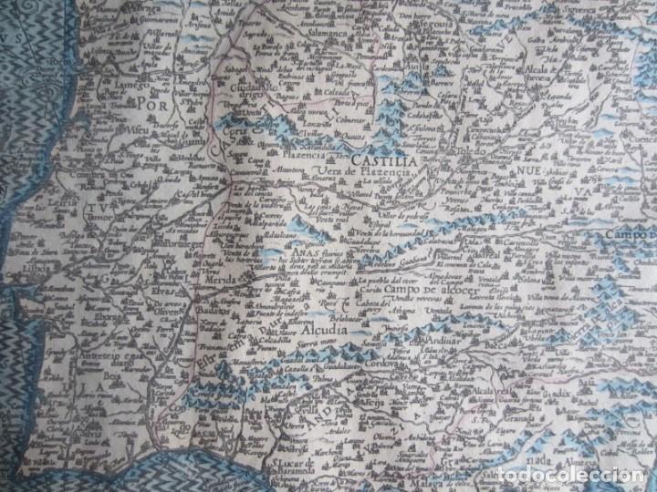 Arte: 1579-MAPA ORLADO ESPAÑA.VISTAS BARCELONA BILBAO SEVILLA MALAGA MADRID TOLEDO CÁDIZ.TRAJES REGIONES - Foto 14 - 233907835