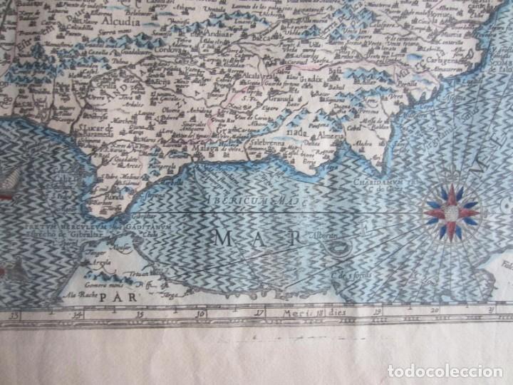 Arte: 1579-MAPA ORLADO ESPAÑA.VISTAS BARCELONA BILBAO SEVILLA MALAGA MADRID TOLEDO CÁDIZ.TRAJES REGIONES - Foto 15 - 233907835