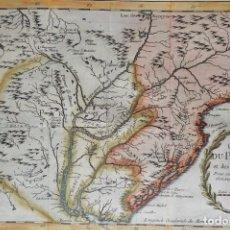 Arte: URUGUAY, ARGENTINA, PARAGUAY, BOLIVIA, CHILE, BRÉSIL, MAPA BELLIN, 1756, CARTE DU PARAGUAY. Lote 235679825