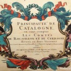 Arte: MAPA DEL PRINCIPADO DE CATALUNYA. GRABADO COLOREADO. H. JAILLOT, S. SANSON. FRANCIA. 1692. Lote 237070355