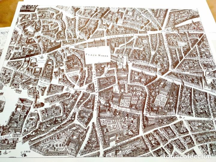 Arte: PLANO TEIXEIRA MADRID (1656) - EDICIÓN FACSÍMIL GIGANTE - 59 X 48 CMS POR PLANCHA - Foto 3 - 237712980